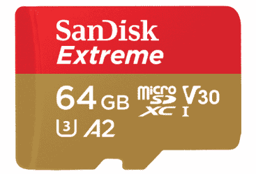 SanDisk 64GB Extreme UHS-I microSDXC Memory Card with…