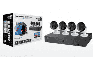 Compare HomeGuard 1080P 8CH  DVR  & 4 x 1080P PIR  Heat sensing Day Night CCTV Cameras 2TB   HGDVK 84404  at KSA Price
