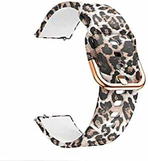 Compare Compatible with Fossil Men's Gen  5  Carlyle Band & Fossil Women's Gen  5  Julianna Band,22mm Soft Waterproof Silicone Sport Watch Band for  Fossil Men's Gen  4  Explorist HR Gen 3  Q  Explorist Leopard at KSA Price