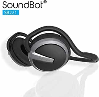 Compare SoundBot� SB221 HD Wireless Bluetooth 4.0 Headset Sports Active Headphone for 20Hrs Music Streaming & 25Hrs HandsFree Calling w Sweat Resistant Ergonomic Secure Fit Design & Voice Command Support at KSA Price