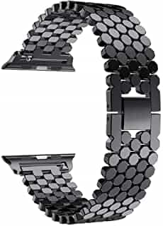Compare Stainless Steel Watch Band Replacement Strap for  Apple Watch 42mm series3 2 1    Black at KSA Price