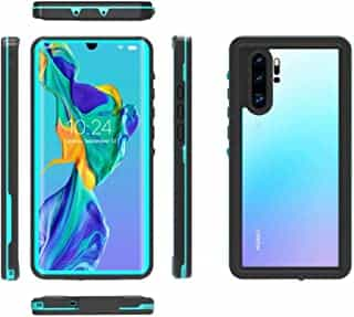 Compare Redpepper 360  Full Protection Waterproof Shockproof Protection Phone Case For  Huawei P30  Pro  Diving Swimming aquatics Transparent shockproof Back Cover For  Huawei P  30  Pro  Black&Blue at KSA Price