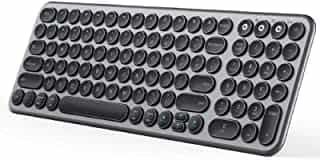 Compare Multi Device Bluetooth Keyboard, Jelly Comb Wireless Slim Rechargeable Keyboard with Round Keycaps for  Laptop PC  Tablet Smartphone Windows MAC OS Android iOS System    Black and  Gray at KSA Price