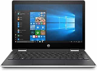 """Compare HP     Pavilion x360 2 in 1 11.6"""" Touch Screen Laptop    Intel Pentium    4GB  Memory    128GB Solid State Drive    Ash  Silver Keyboard Frame, Natural Silver at KSA Price"""