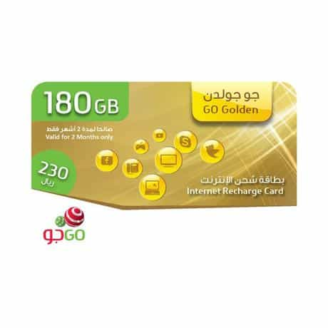 Compare Go  Golden Internet Recharge Card, 180GB, 2  Months at KSA Price