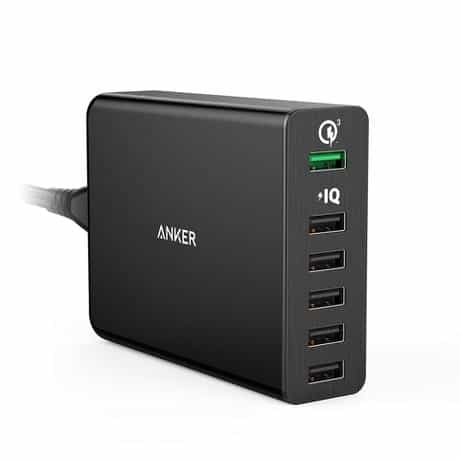 Anker PowerPort+ 6 Ports Desktop Charger, Quick…