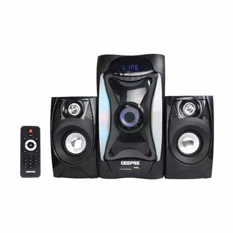 Compare Geepas 2.1  Channel Speakers System, Black, GMS8597 at KSA Price