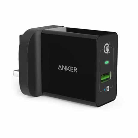 Anker PowerPort+ 1 Port Wall Charger, Quick Charge…