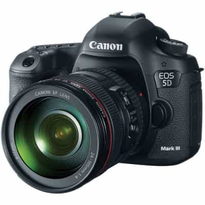 Canon EOS 5D Mark III, 22.3 MP with 24-105mm…