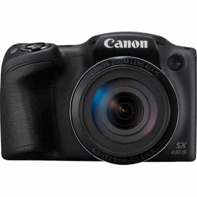 Compare Canon PowerShot SX430 IS  Mini DSLR Camera,+ 16  Memory Card, Black. at KSA Price