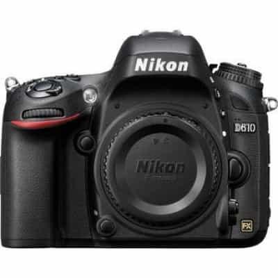 Compare Nikon D610 FX  Camera, 24.3MP  VBA430AM  +  Nikon Vest +  Nikon Tumbler at KSA Price