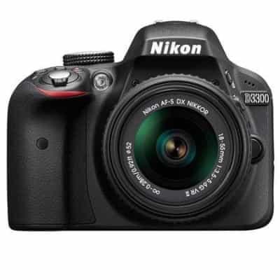 Nikon D-3300, 24.2 MP DSLR, Camera, Black.