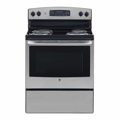 Compare GE  Free Standing Electric Range, 30  Inch, 4  Coil, Stainless Steel at KSA Price