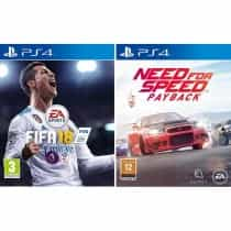 Compare FiFa 18  +  Need for  Speed: Payback, PlayStation 4   Games , Assorted Genre, Blu ray Disc at KSA Price
