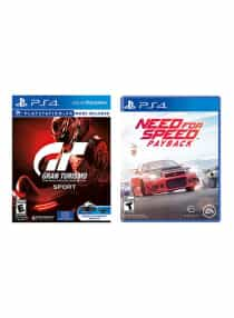 Gran Turismo Sport + Need For Speed Payback…