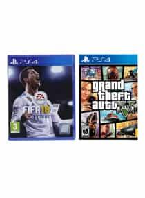 FIFA 18 + Grand Theft Auto V - Playstation…