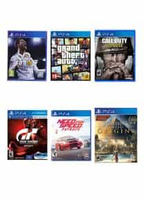 FIFA 18 + Grand Theft Auto V + Call Of…