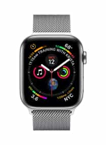 Compare Watch Series 4  GPS  With Cellular Connectivity Stainless Steel Case With Milanese Loop 40  millimeter at KSA Price