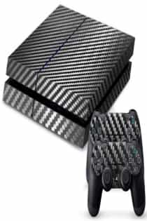 Compare Skin Sticker for  Sony PlayStation4 and  2  Sticker for  Controler ,  Grey Shape  at KSA Price
