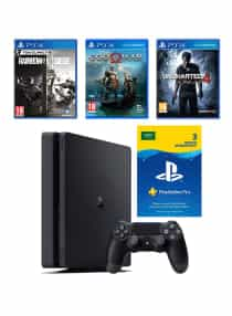 Compare PlayStation 4  Slim 500GB With 3  Games And  3  Months PlayStation Plus Membership  at KSA Price