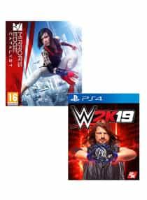 Compare Mirrors Edge Catalyst +  WWE  2K19 Bundle    PlayStation 4   at KSA Price