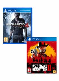 Compare Uncharted 4  :  A  Theif s End  +  Red  Dead Redemption 2      PlayStation 4   at KSA Price