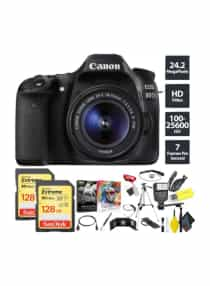 Compare EOS  80D  DSLR Camera With 18 55mm Lens And  Accessories  at KSA Price