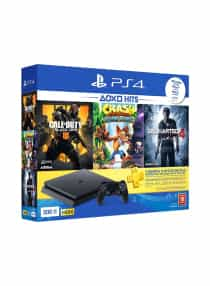 Compare PlayStation 4  Slim 500GB Console +  Call Of  Duty Black Ops  With Crash Bandicoot N  Sane Trilogy And  Uncharted 4   at KSA Price
