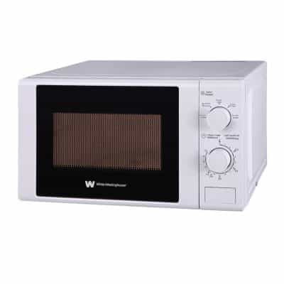 White Westinghouse WMW20VW Microwave Oven with Mechanical…