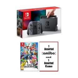 Nintendo Switch Console + Super Smash Bros Game…