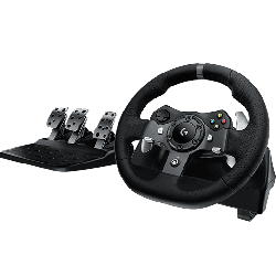 Logitech Driving Force Steering Wheel and Pedals…