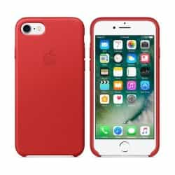 Apple iPhone 7 Leather Case (MMY62ZM/A) - Red